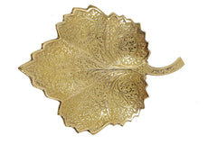 Brass Leaf Designed Embossed Figurine