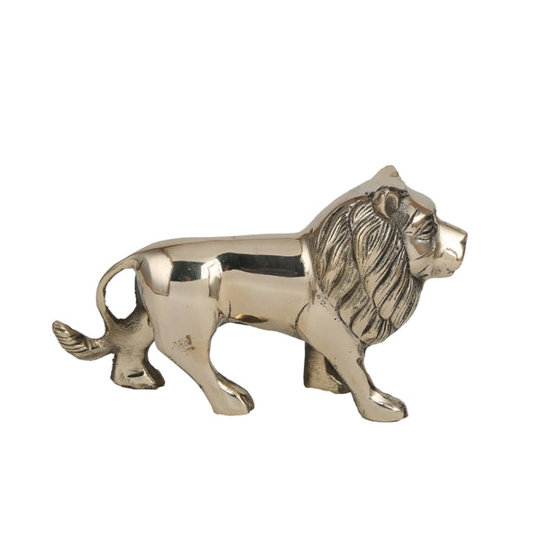 Brass Lion Statue (6 and 1.6 Inches)