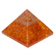 Orange Clear Crystal Orgone Pyramid