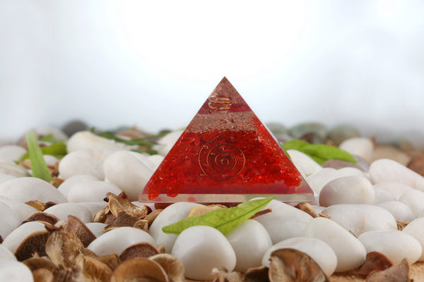Red Orgone Pyramid