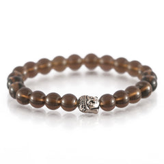 Smoky Buddha Charm Bracelet For Positivity