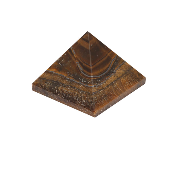 Tiger Eye Gemstone Pyramid For EMF Protection