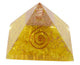 Yellow Clear Crystal Orgone Pyramid