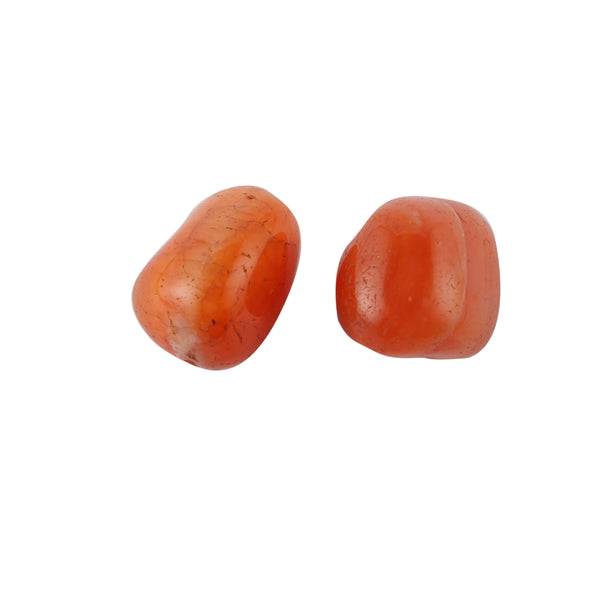 Carnelian Tumble Stone (25-30 mm) (Set of 2)