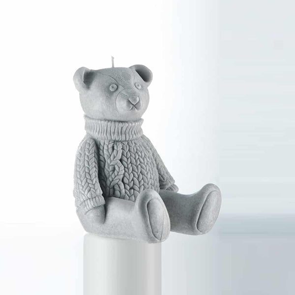 Gaston the Bear Grey Candle