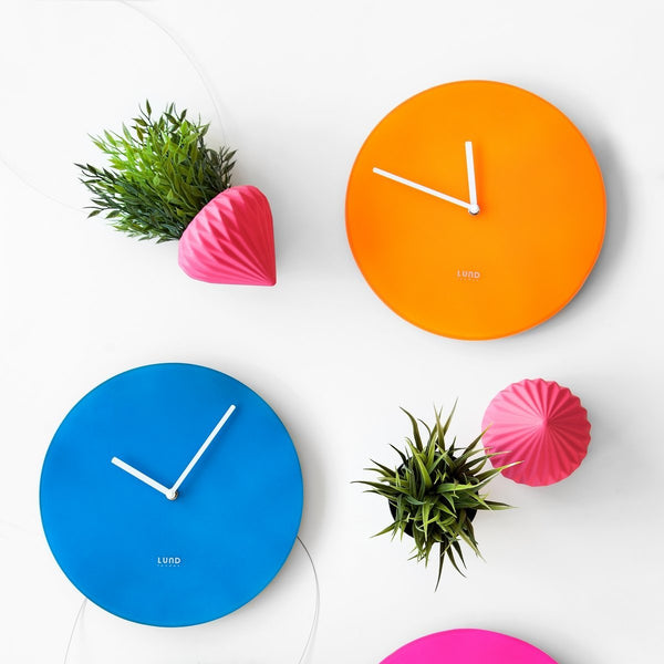 Neon Orange Wall Clock
