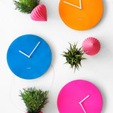 Neon Blue Wall Clock