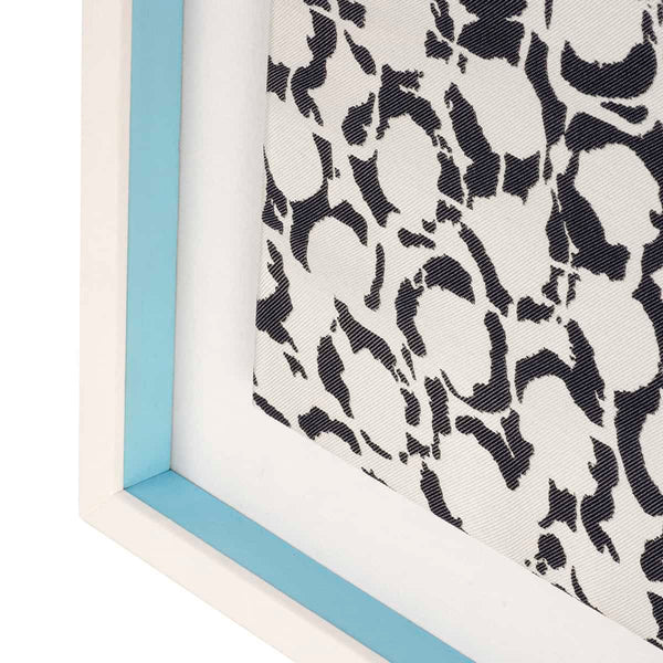 Light Blue Bubbles Fabric Frame