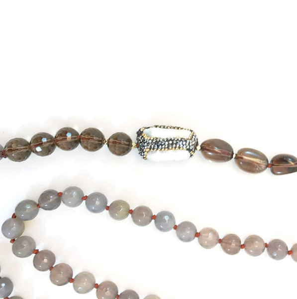 Smokey quartz Agate Necklace