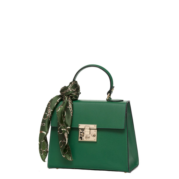Green Handbag with foulard