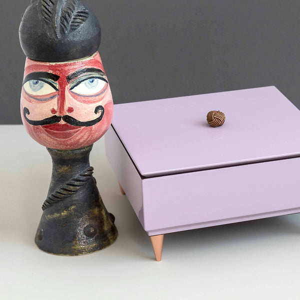 Handmade Lacquered Lilac Box