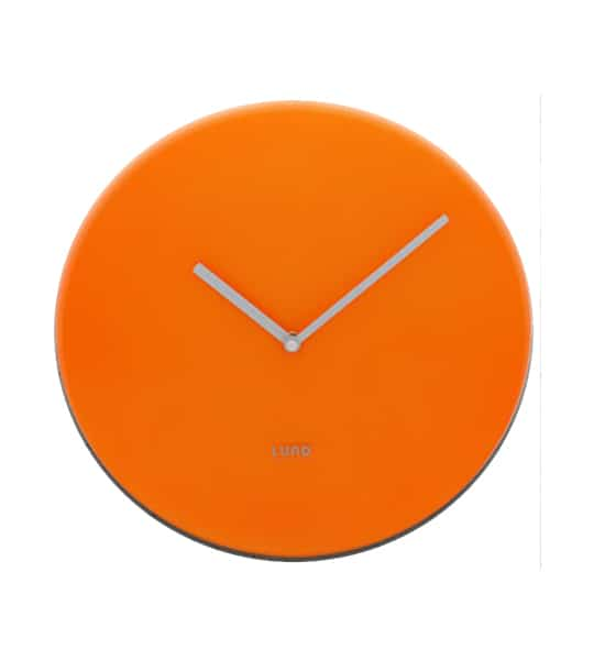 Orange neon Wall Clock