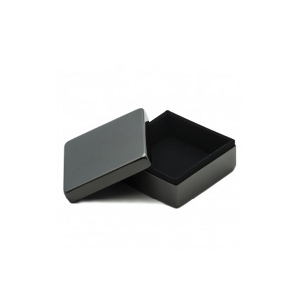 Gunmetal-Toned Square Box