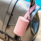 Pink Leather Hygiene Set