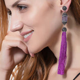 Fringe Purple earrings