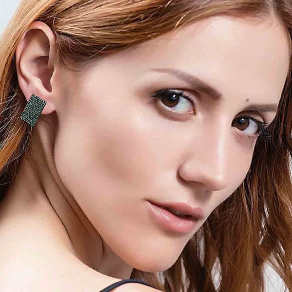 Green Zircon Stud Earrings