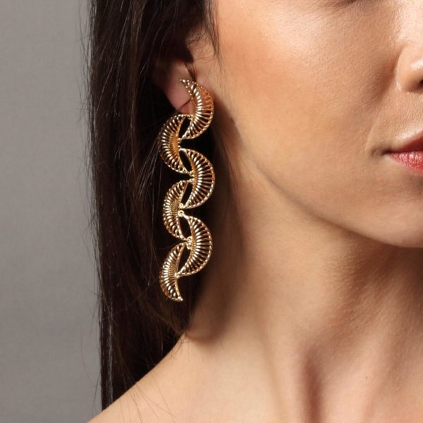 Infinite Petals Filigree Long Statement Earrings