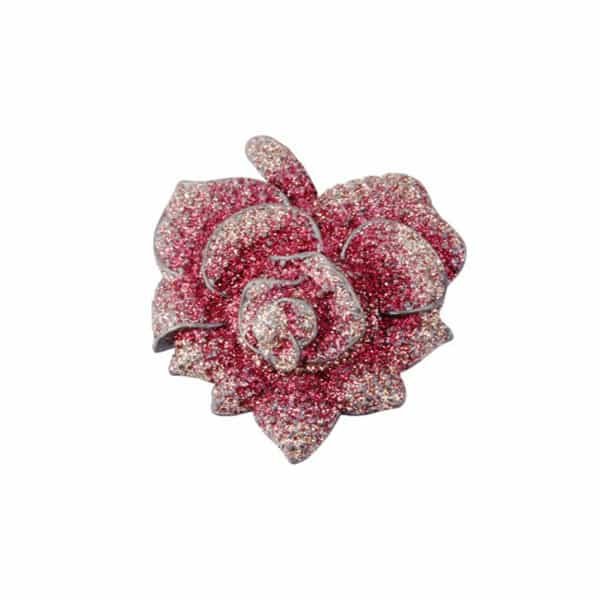 Bordeaux Rose Brooch