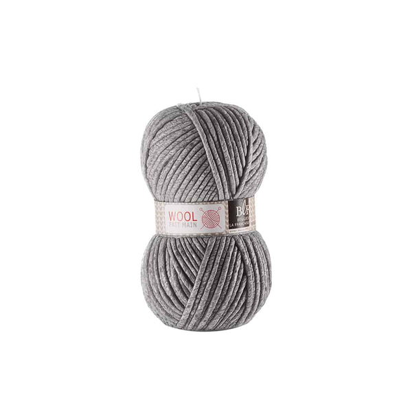 Wool Candle Large in Dark Grey