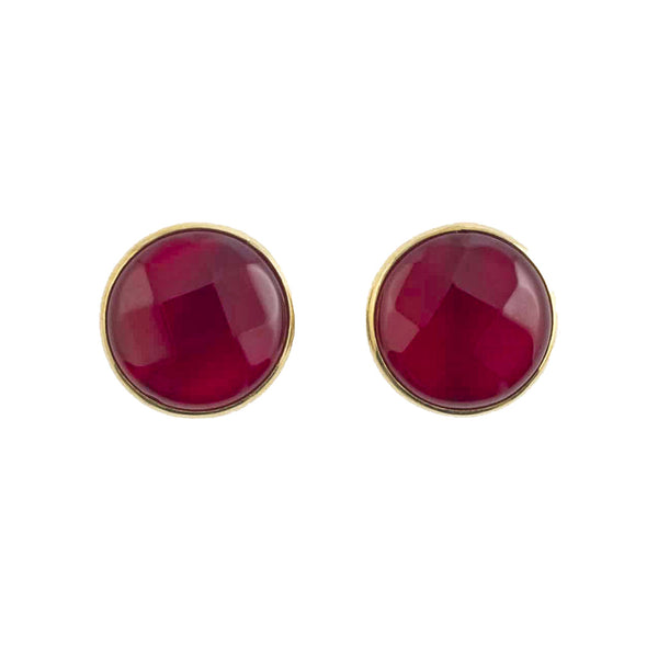 Red Agate Stud Earrings