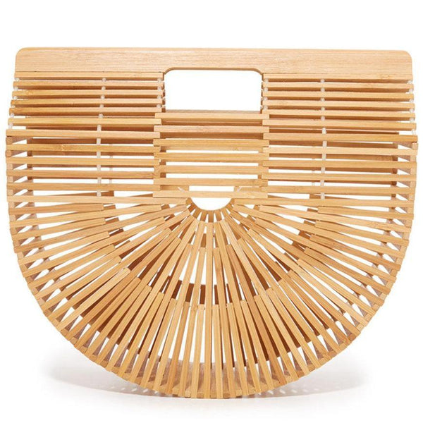 Half Moon Bamboo Beach Bag