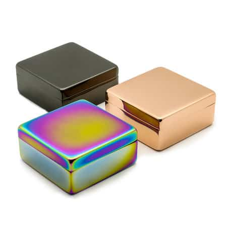 Oil slick plated Metal Box with lid