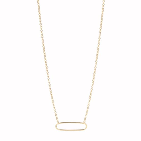 Link Gold Plated Silver Chain Necklace