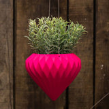 Pink Diamond Hanging Ceramic Pot