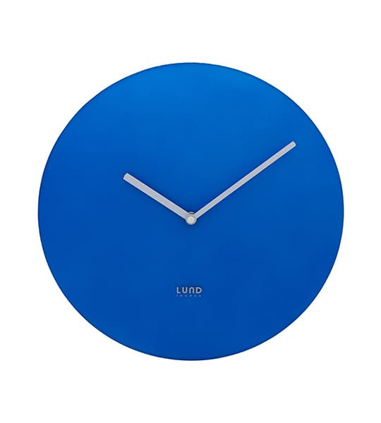 Blue neon Wall Clock