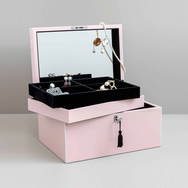 Handmade Blush Lacquered big Jewelry Box