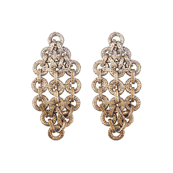 Chandelier Gold Kamelite Earrings