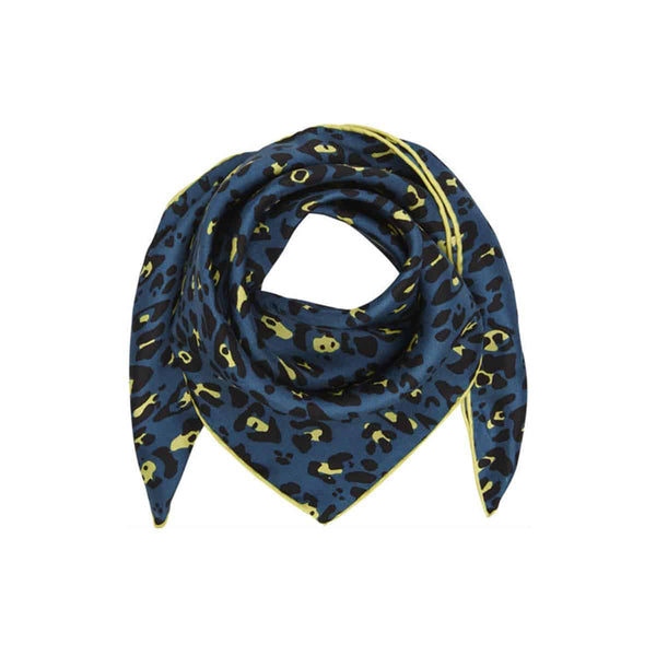 Leo Blue & Lime Silk Scarf