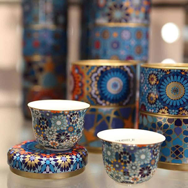 Demitasse Cup Set of 4 Floral Moucharabieh