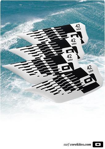 Core 42mm Kiteboard Fins (pack of 4)