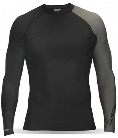 Dakine Men's Twilight Snug Fit Long Sleeve Surf Shirt, Black, M