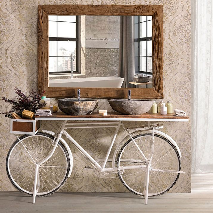 Consolle Industrial Bike White