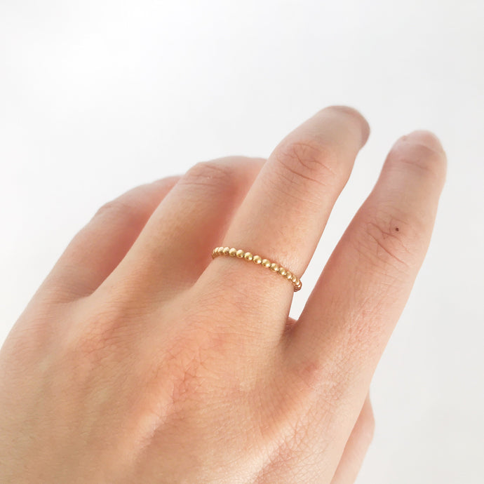 Large Gold Beaded Ring