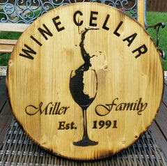 Barrel Head Design Wall Plaque