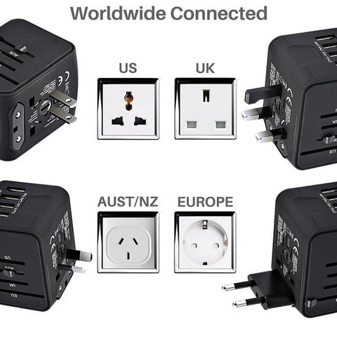 Worldwide Connected International Travel Adapter