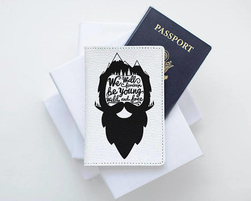 Beard Adventure Leather Passport Holder