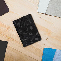 Geometric Leather Passport Cover