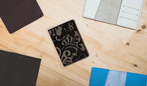 Lace Leather Passport Cover