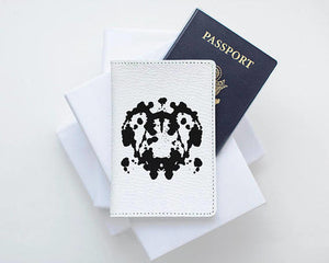 Rorschach Ink Blot Leather Passport Cover