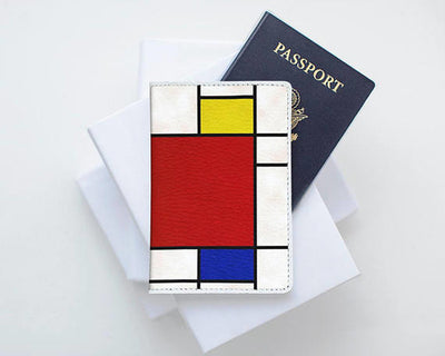 Piet Mondrian Art Leather Passport Cover