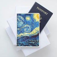 Starry Night Van Gogh Leather Passport Cover
