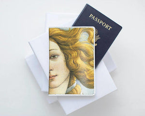 Birth Of Venus Leather Passport Holder