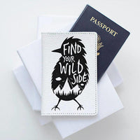 Mountain Travel Leather Passport Cover