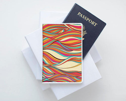 Colorful 2 Leather Passport Cover