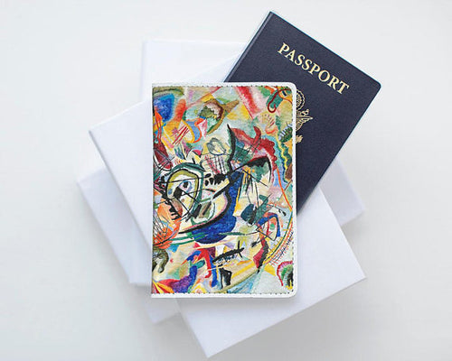 Kandinsky Painting Leather Passport Cover