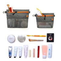 Gray Mesh Travel Bag- 2Pcs